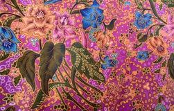 Breit de Thaise naadloze de zijdestof van het zijdepatroon de achtergrond van de patroontextuur Stock Fotografie