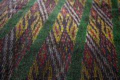 Breit de Thaise naadloze de zijdestof van het zijdepatroon de achtergrond van de patroontextuur Royalty-vrije Stock Afbeelding