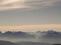 Breite Ansicht der Dolomit stockfoto