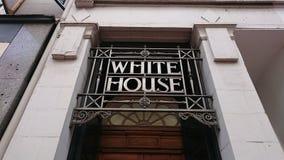 Breite Ansicht der Hintertür des weißen Hauses lizenzfreie stockfotos