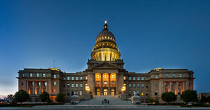 Breite Ansicht des Boise-Hauptgebäudes Lizenzfreies Stockfoto