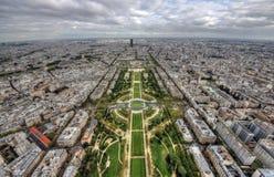 Breite Ansicht Paris stockfoto