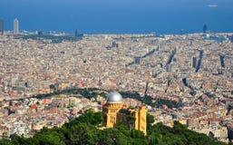Breite Ansicht von Barcelona Spanien stockfoto