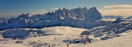 Breite Ansicht von Dolomiti Stockfotos