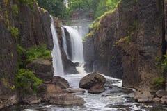 Breite Ansicht von Paterson Great Falls Lizenzfreie Stockbilder