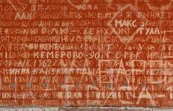Breite Backsteinmauer Lizenzfreie Stockbilder