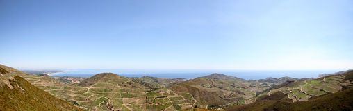 Breite Mittelmeerlandschaft Stockbilder