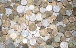Breite Palette von verschiedenen russischen Münzen Lizenzfreies Stockbild