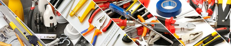 Breite Panoramawerkzeuge für Reparatur lizenzfreie stockbilder