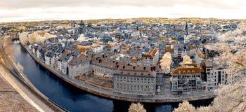 Breite panoramische Infrarotansicht von Namur Lizenzfreie Stockfotografie