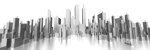 Breite Skyline 3d stock abbildung