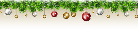 Breite Weihnachtsfahne Lizenzfreie Stockfotos