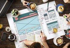 Breiten Sie Design-Internet-Organisations-Blogging Konzept aus Stockfotos
