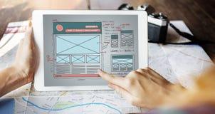 Breiten Sie Design-Internet-Organisations-Blogging Konzept aus Stockfotografie
