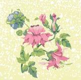 Breiten Sie sich mit Blumen aus Lizenzfreie Stockfotografie