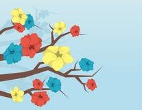 Breiten Sie sich mit Blumen aus stock abbildung