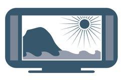 Breiter Bildschirm Fernsehapparat Stockbild