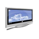 Breiter Fernsehapparat Lizenzfreies Stockfoto