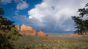 Breiter Schuss Sedona Arizona Lizenzfreie Stockbilder