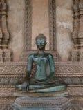 Breiter Sitzen Laotianer Buddha Stockbilder