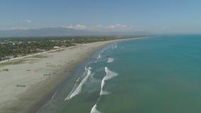 Breiter Strand auf der Insel von Luzon, Philippinen stock footage