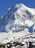Breithorn. The Breithorn and its glacial cap in the southern swiss alps above Zermatt Royalty Free Stock Photo