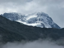 breithorn山顶 库存照片