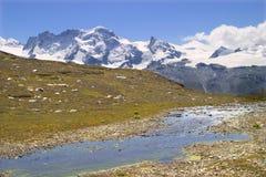 Breithorn - die Schweiz Stockbild