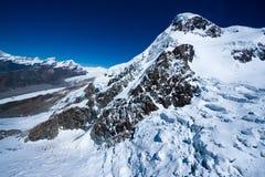 Breithorn glaciär Arkivbild