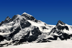 Breithorn and Klein Matterhorn. Beautiful mountain Breithorn and Klein Matterhorn - Swiss Alps Stock Photo