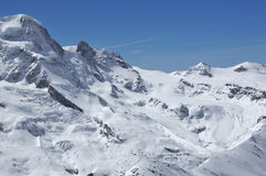 Breithorn and Kleiner Matterhorn Royalty Free Stock Photo
