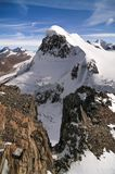 Breithorn 4164m mountain in Swiss Alps , Switzerland , Valais region royalty free stock images