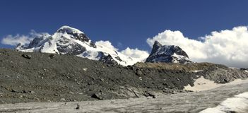 Breithorn Mountain Panorama Royalty Free Stock Photo