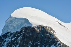 Breithorn, one of the most easily climbed 4,000m peak. Breithorn, one of the most easily climbed 4,000 m Alpine peak Royalty Free Stock Photo