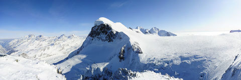 Breithorn panorama Royalty Free Stock Image