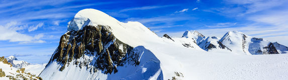 Breithorn panorama. Royalty Free Stock Photography
