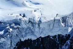 Breithorn peak in Swiss Alps seen from klein Matterhorn Royalty Free Stock Photos
