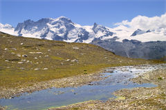 Breithorn - switzerland Stock Image