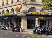 Breitling商店在日内瓦,瑞士 免版税图库摄影
