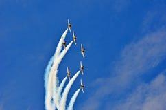 Breitling喷气机小组 免版税库存照片