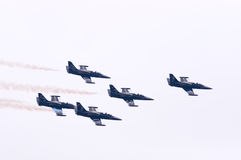 Breitling喷气机小组L39 免版税库存照片