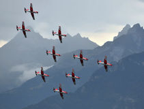 Breitling Air Show Sion Royalty Free Stock Image