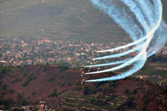 Breitling Air Show Sion Stock Photo