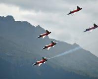 Breitling Flugschau Sion lizenzfreies stockbild