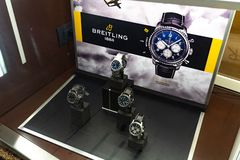 Breitling guarda fotografia stock