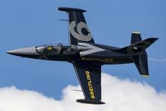 Free Breitling Jet Team Aero L-39C Albatross Jet Trainer Aircraft ES-YLF. Royalty Free Stock Photos - 121459018