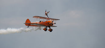 Breitling wing walkers Royalty Free Stock Photo