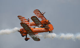 Breitling wing walkers Royalty Free Stock Images