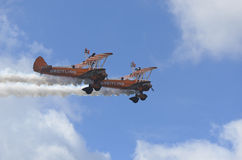 Breitling Wing Walkers Royalty Free Stock Photos
