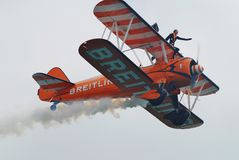 Breitling Wing Walkers Lizenzfreie Stockfotos